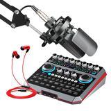 声佰乐B6声卡搭配得胜TAK55麦克风  手机电脑直播K歌套装