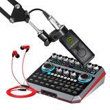 声佰乐B6声卡搭配莱维特240pro麦克风  手机电脑直播K歌套装