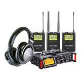 麦拉达WM9S无线麦克风搭配TASCAM DR-70D录音机   影视同期录音套装