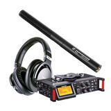 TASCAM DR-70D录音机搭配森海塞尔MKE600麦克风    影视同期录音套装