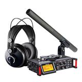 TASCAM DR-70D录音机搭配铁三角AT897麦克风   影视同期录音套装