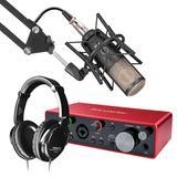 富克斯特Scarlett 2i2声卡搭配AKG Perception220麦克风 录音套装