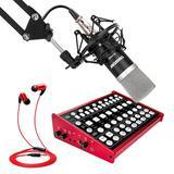 客所思KX6声卡搭配得胜PC-K500麦克风 电脑手机直播K歌声卡套装 抖音快手主播直播录音设备全套
