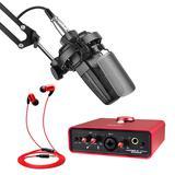 得胜TAK35麦克风搭配艾肯MOBILE·U MINI Live声卡 电脑手机直播K歌声卡套装 抖音快手主播直播录音设备全套