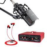 艾肯MOBILE·U MINI Live声卡搭配得胜K850麦克风  电脑手机主播K歌喊麦声卡套装  YY繁星主播直播录音设备全套