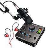 得胜MX630声卡搭配舒尔PGA27麦克风  电脑手机直播K歌录音声卡套装 主播直播录音设备全套