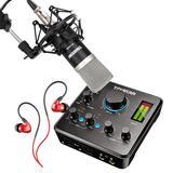得胜MX630声卡搭配得胜PC-K500麦克风  电脑手机直播K歌声卡套装 主播直播录音设备全套