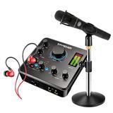 得胜MX630声卡搭配BLUE EN CORE 300麦克风  电脑手机直播K歌声卡套装 主播直播喊麦录音设备全套