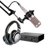 美派(MIDIPLUS) STUDIO 2 PRO声卡搭配铁三角AT2035麦克风 个人录音套装