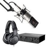 美派(MIDIPLUS) STUDIO 2 PRO声卡搭配森海塞尔MK4麦克风 个人录音套装