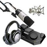 莱维特STREAM 4x5声卡(黑色)搭配森海塞尔MK4麦克风 电脑手机直播K歌声卡套装 抖音快手主播直播录音设备全套