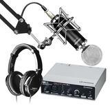 雅马哈UR12声卡搭配得胜PC-K820银色麦克风 个人专业录音套装