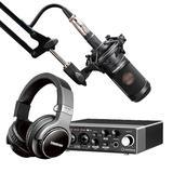 Steinberg/YAMAHA 雅马哈UR 22C声卡搭配铁三角AT2035麦克风 专业个人录音配音设备套装