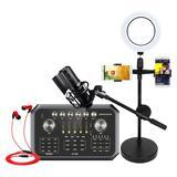 森然ST60声卡搭配得胜PC-K750麦克风 手机K歌直播套装