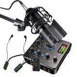 得胜MX630声卡搭配得胜PC-K750麦克风 电脑手机K歌直播套装(无线监听版)