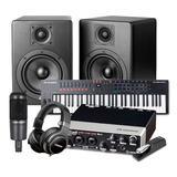 雅马哈UR22MKII 二代声卡搭配铁三角AT2035麦克风加美奥多Oxygen Pro 61键MIDI键盘 录音编曲套装