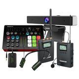 得胜MX1 PLUS声卡搭配得胜SGC-200W R1无线麦克风 网课教学培训直播套装(无线版)