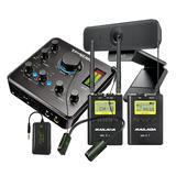 得胜MX630声卡搭配麦拉达WM9无线麦克风 网课教学培训直播录播套装(电脑无线版)