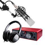 福克斯特solo三代声卡搭配得胜PC-K600麦克风 录音套装