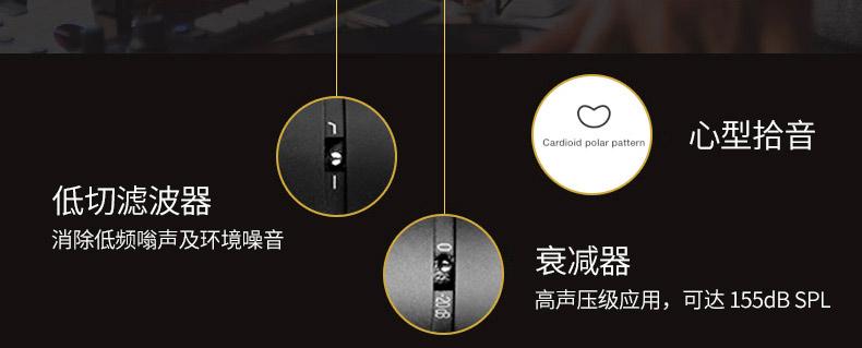 爱科技(AKG) Perception220 (Single)电容式大震膜录音麦克风