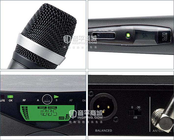 WMS470 D5 SET 一拖一手持话筒 无线演出话筒 细节展示