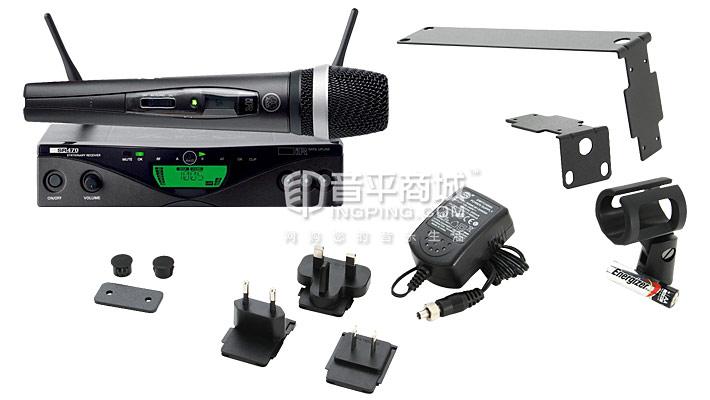 WMS470 D5 SET 一拖一手持话筒 无线演出话筒 包装清单