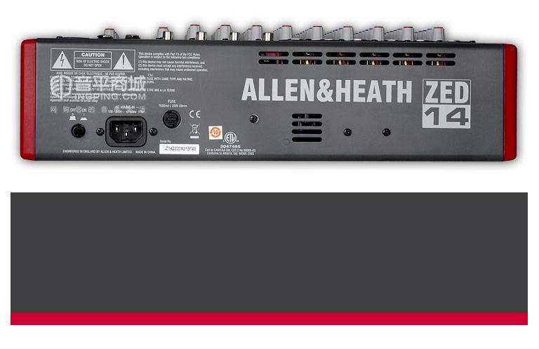 ZED-14 14路USB专业音频调音台
