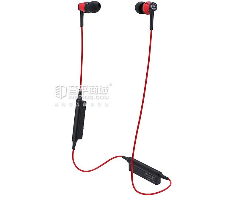 铁三角(Audio-technica) ATH-CKR35BT 无线蓝牙线控入耳式颈挂运动耳机