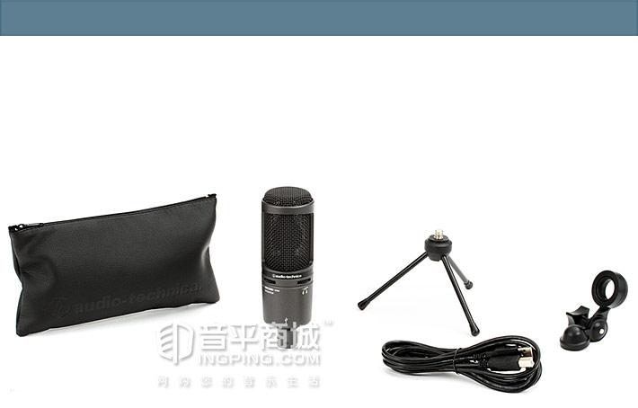 AT2020USB+ 心形指向电容专业录音话筒 包装清单