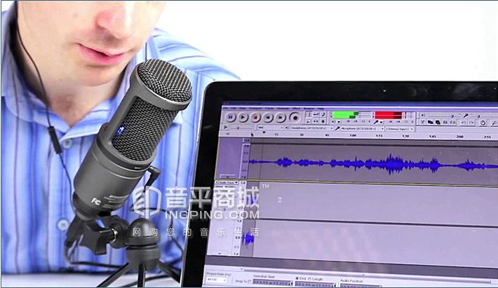 AT2020USB+ 心形指向电容专业录音话筒 放置方式