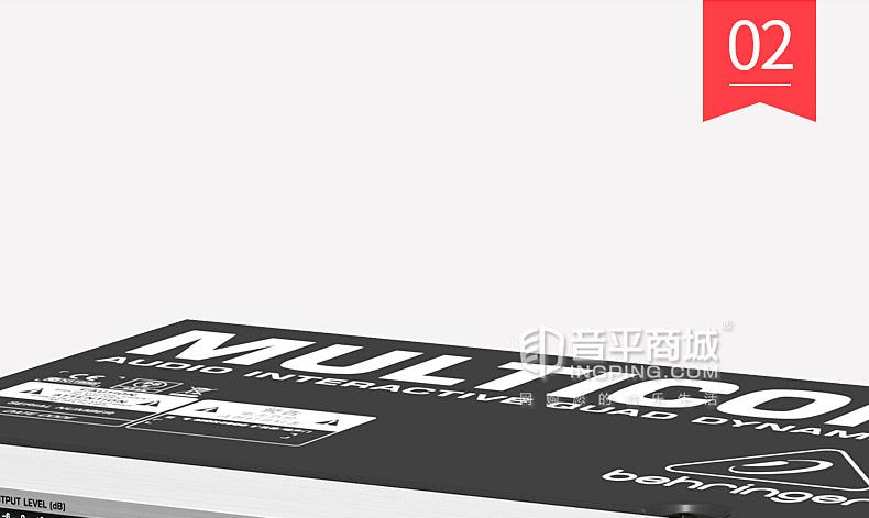 百灵达(BEHRINGER) MDX4600 压限器4路扩展抑制噪声压缩峰值限制