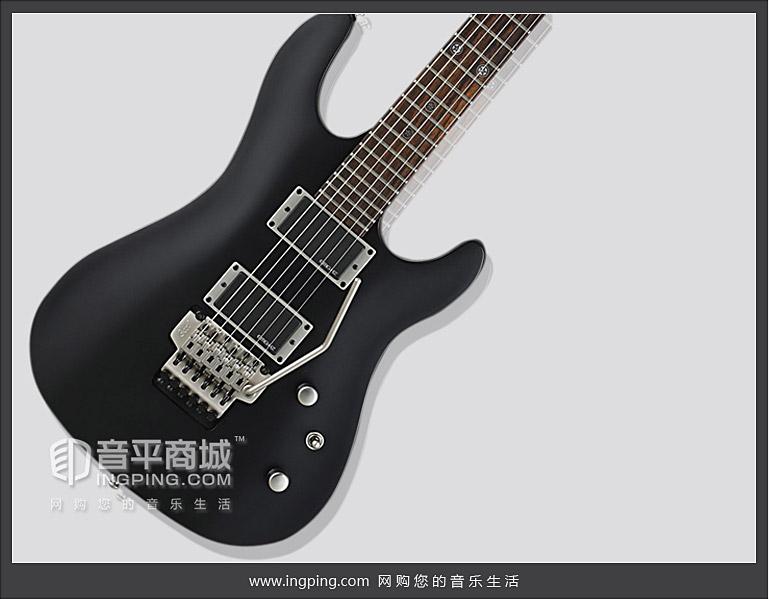 考特(CORT) 电吉他品牌 EVL-K4 黑色金属风格双摇电吉他