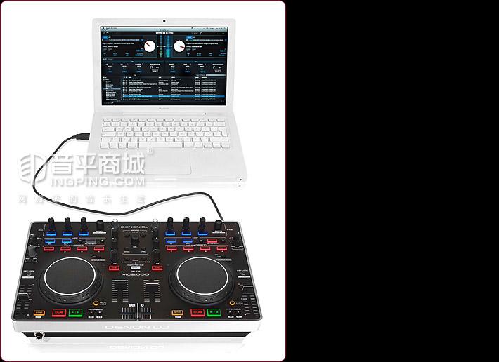 天龙(Denon) DN-MC2000 2通道面板式DJ MIDI控制器 搭配Serato DJ软件使用