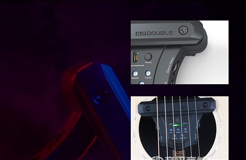 德博(DOUBLE) 吉它精灵GO加振拾音器 音孔免打孔