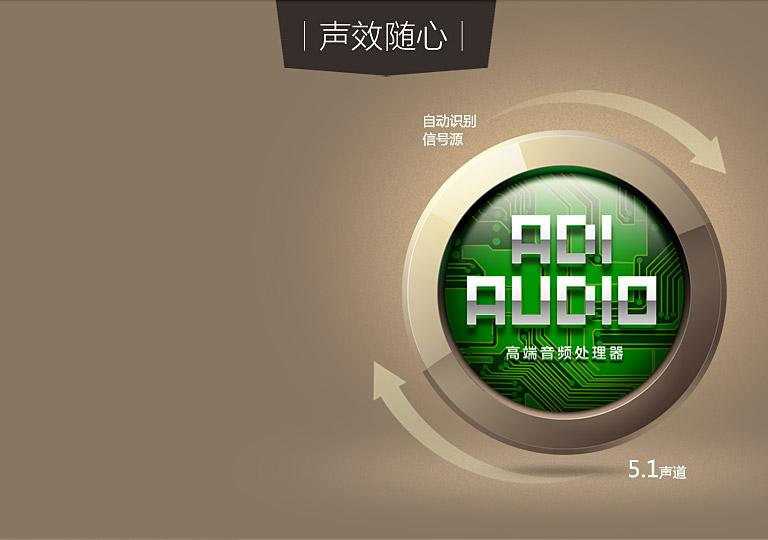 飞歌(Flyaudio) HT-100 5.1家庭影院音响 芯片