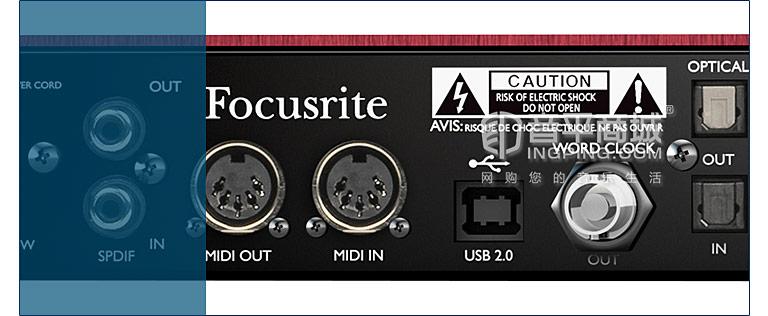 Scarlett 18i20专业录音 USB外置声卡 音频接口升级版 细节
