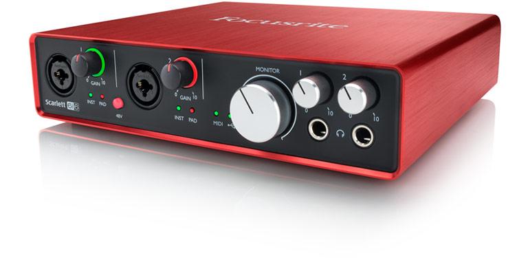 Scarlett 6i6专业录音 USB外置声卡 音频接口升级版  硬件特征