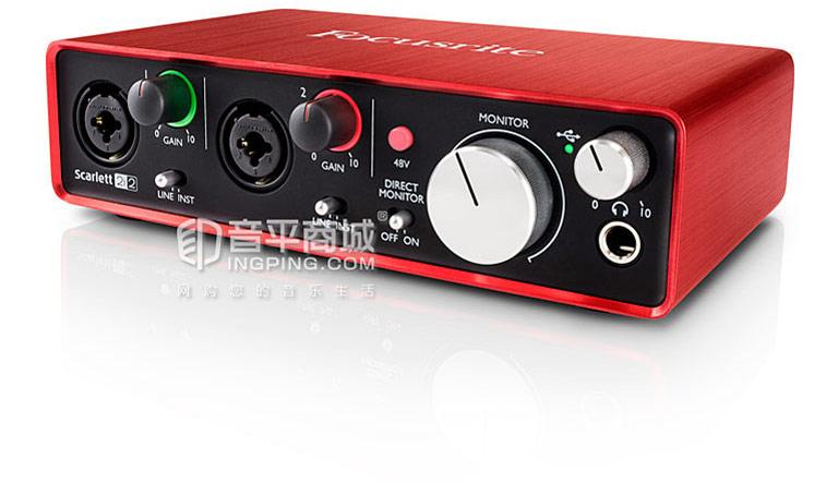 Scarlett 2i2专业录音 USB外置声卡 音频接口升级版