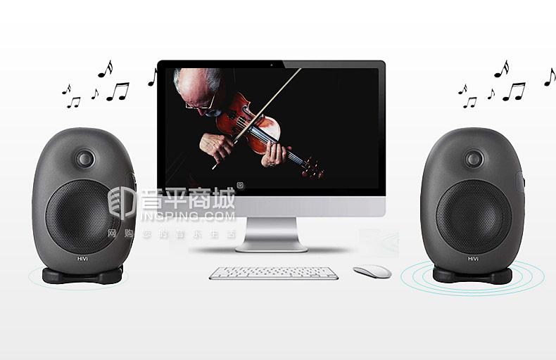 惠威(HiVi) X5 多媒体监听音箱有源2.0电脑客厅电视HiFi书架音响
