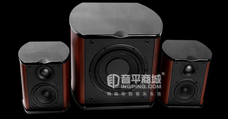 惠威(HiVi) M50W 2.1 大功率多媒体音箱 酒红色