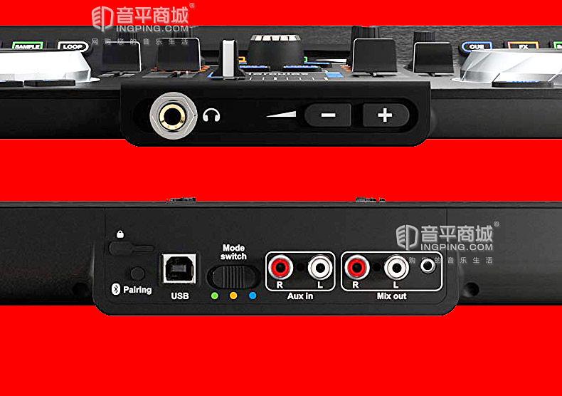 嗨酷乐(Hercules) Universal DJ 便携式一体化DJ打碟机控制器 直播打碟机