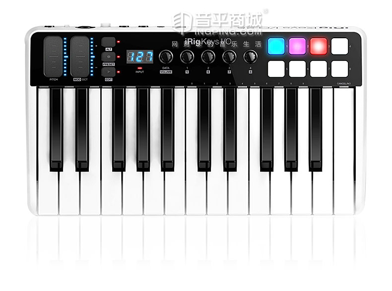 IK(IK-Multimedia) IK iRig Keys I/O 25键全尺寸MIDI键盘控制器 内置声卡