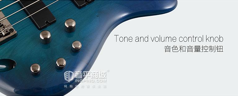 依班娜(Ibanez) 电贝司品牌 SR370 初学者必备电贝司 (蓝色)
