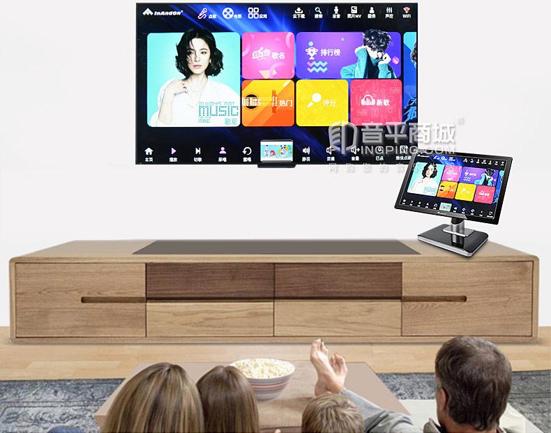 音王(InAndOn) KV-V903 PLUS 家庭KTV一体点歌机 21.5寸台式红外屏 黑色(3T)
