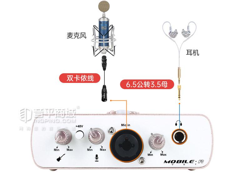 艾肯(iCON) MOBILE·R VST 电脑网络K歌录音外置USB声卡 主播直播唱歌声卡