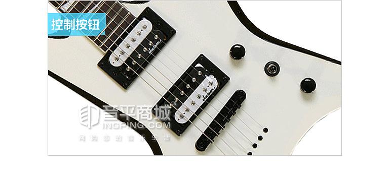JS32T WARRIOR 燕尾电吉他 枫木琴颈 玫瑰木指板 椴木琴体 原音 磨砂黑 杰克逊