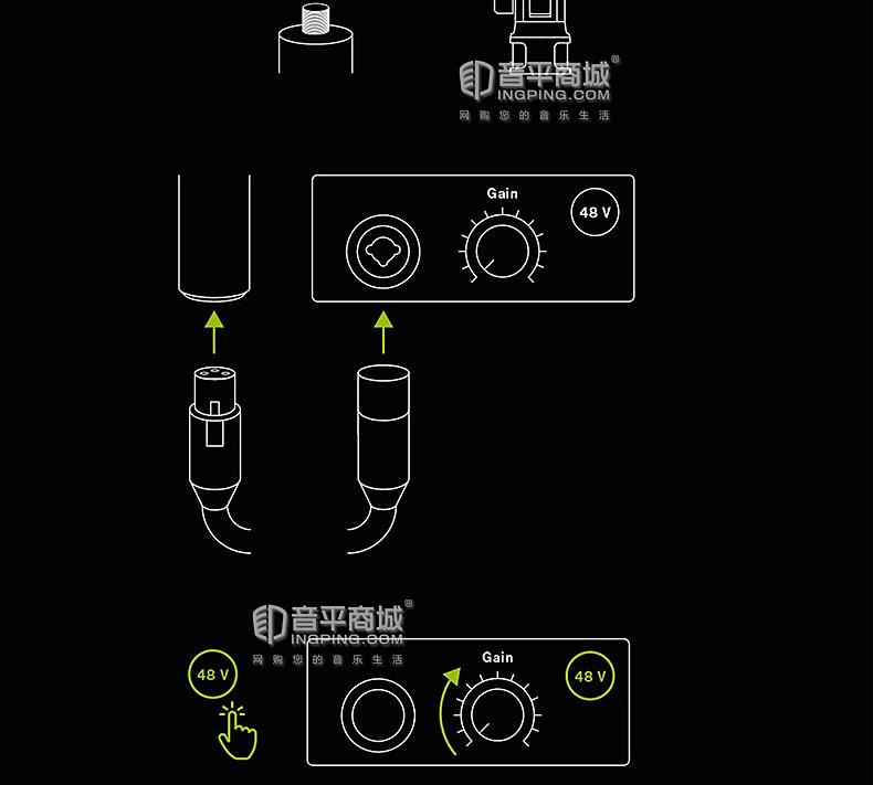 莱维特(LEWITT) LCT040 MATCH 电容式乐器录音麦克风 为原声吉他和鼓组设计