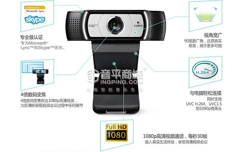 罗技C930e网络高清摄像头特点