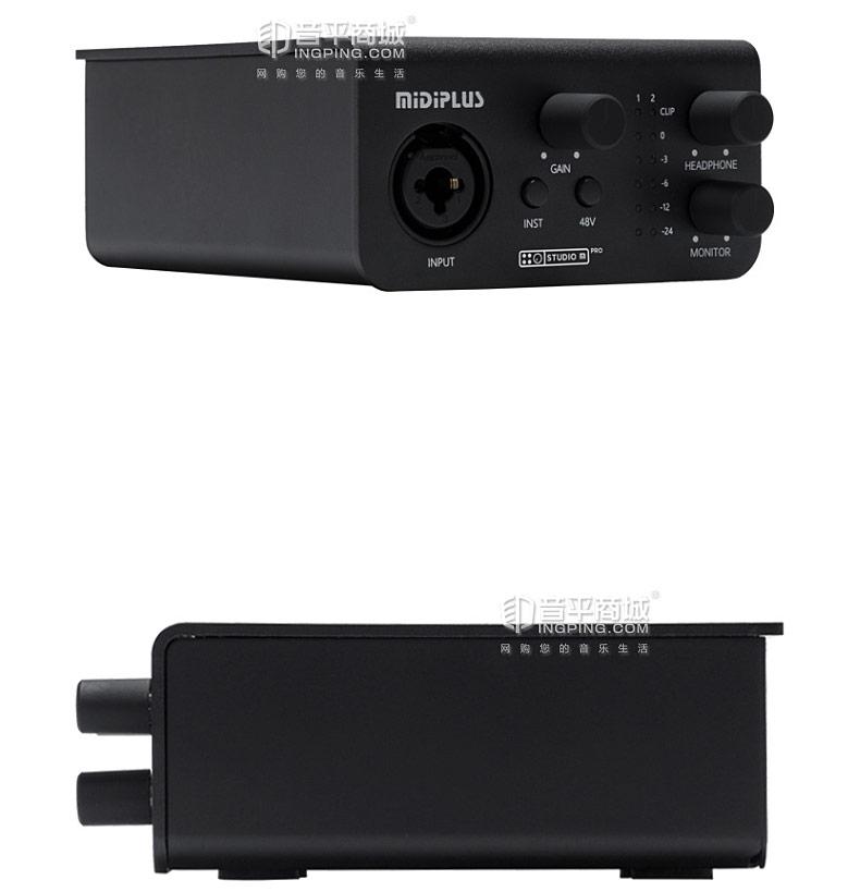 美派(MIDIPLUS) STUDIO M PRO 专业K歌录音监听声卡 USB声卡 高清音频接口