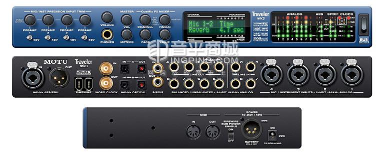 MOTU TRAVELER MK3 旅行者 火线音频接口 专业录音声卡